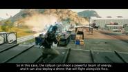 Rico fires a railgun