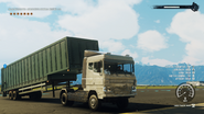 Cargo trailer truck (trailer disconnected)
