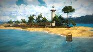 Pulau Penjala dock and lighthouse