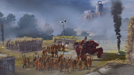 Storming the Hive (Rico giving a speech on a mech)