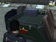 Wallys GP, Guerrilla version, patrol, rear inside view.