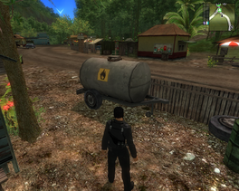 JC1 Pesticide tank trailer at Los Cayos village