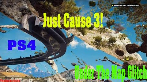 Just Cause 3 - Under The Map Glitch PS4