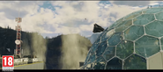 JC4 trailer screenshot (new jet crashes into a glass dome)