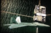 F-22 Above Oil Rig