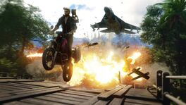 JC4 leaked screenshot (motorcycle and jet)