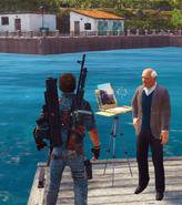 JC3 Rico meets a painter at Celata