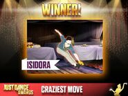 Justdanceawards craziestmove winner