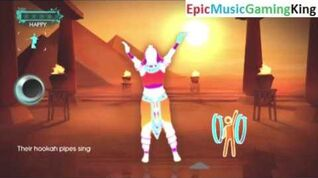 "Just Dance 3 Gameplay - ""Walk Like an Egyptian"" (Demo) - High Score Of 1 Gold Star"