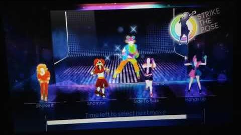 Just Dance 4 - Moves Like Jagger Puppet Master Mode (Gamepad View) (Wii U)