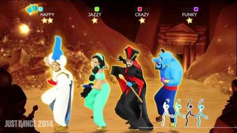 Disney's Aladdin - Prince Ali Just Dance 2014 Gameplay UK