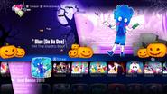 Blue menu halloween