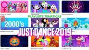 JUST DANCE 2019 PLAYLIST TEMATICAS MENU CANCIONES