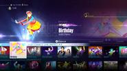 Birthday jd2016 menu