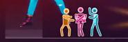 Handclap picto glitch
