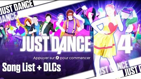 Just Dance 4 - Song List (Wii U PAL)
