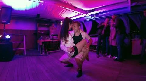 Kizomba Dance Improvisation - Night Ship Party - Alex & Alyona