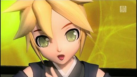 60fps Full風 Butterfly on My(Your) Right Shoulder 右肩の蝶 -Kagamine Len Rin 鏡音レン リン DIVA English romaji