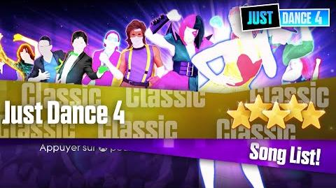 Just Dance 4 - Song List (PAL)