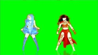 Just Dance 2014 She Wolf VS Where Have You Been Green Screen Extraction