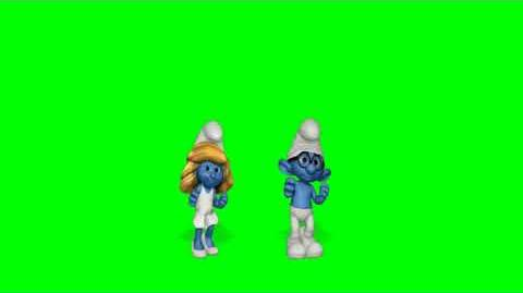 The Smurfs Dance Party Like Whoa Green Screen Extraction