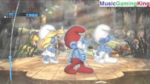 """The Smurfs Dance Party Gameplay - """"Smurfs (Main Title)"""" - High Score Of 3,595 Points Achieved"""