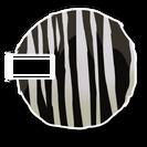 Zebra furball skin