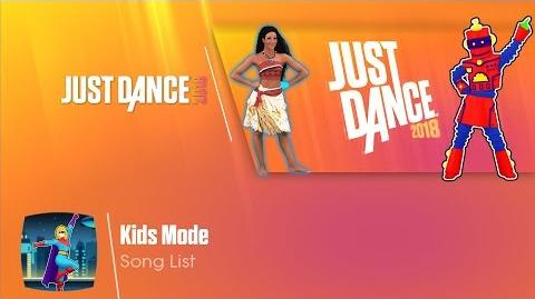 Kids Mode Menu - Just Dance 2018