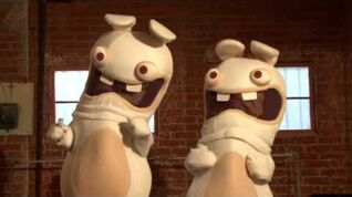 Raving Rabbids play Cotton Eye Joe from Just Dance Wii game