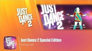 Song List Just Dance 2 Special Edition