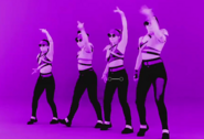 Purple girls dance crew bts