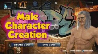 The Hip Hop Dance Experience - Male Character Creation Wardrobe Mode
