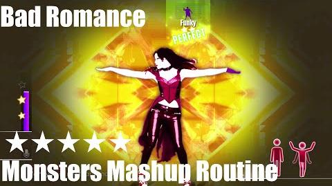 """Bad Romance"" - Just Dance 2015 - Monsters Mashup Routine 5* Stars"