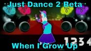 Just Dance 2 When I Grow Up Beta appearance