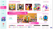 Samba jd2020 menu