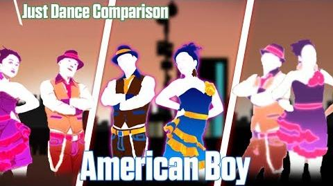 Just Dance - American Boy Comparison - 3 Versions