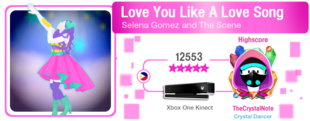 LoveYouLikeALoveSong M617Score
