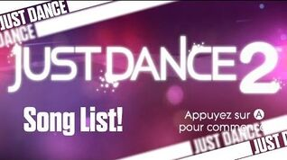 Just Dance 2 - Song List (PAL) !