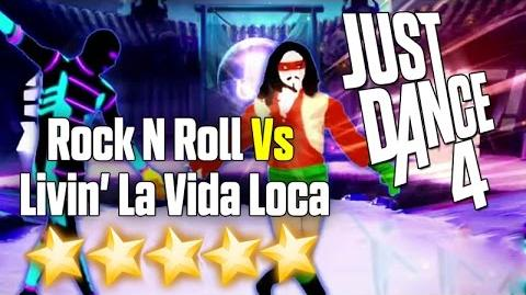 Just Dance 4 - Rock 'N' Roll VS Livin' La Vida Loca (Battle) - 5 stars