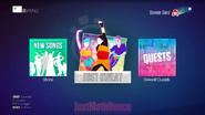 Justsweat modes screen (watermark)