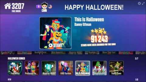 Just Dance Now Menu Halloween Songs