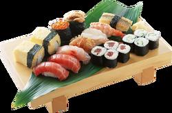 Sushi transparent
