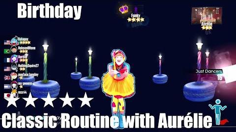 """Birthday"" - Just Dance 2015 - Classic Routine with VIP Aurélie 5* Stars"
