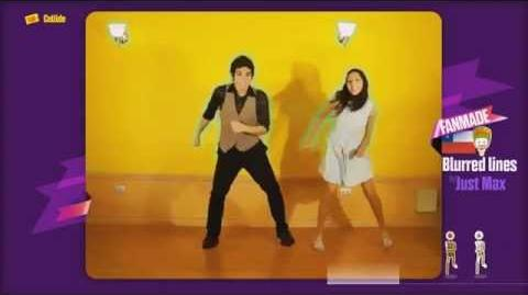 Just Dance Now FANMADE Blurred Lines by JUSTMAX WII