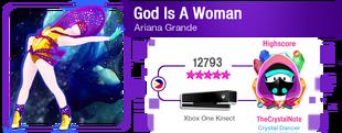GodIsAWoman M617Score