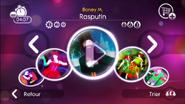 Rasputin jd2 menu