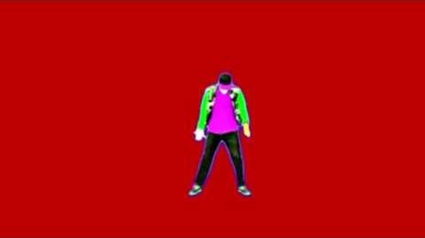 Just Dance 4 Good Feeling Red Screen Extraction