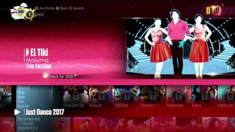 Just Dance 2017 - Menu