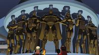 Estátuas de bronze da Liga da Justiça
