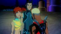 Kaldur, Garth, and Tula